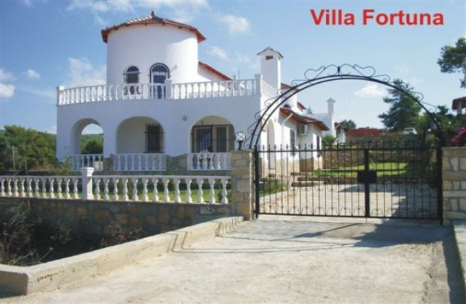 Villa Fortuna with views of the Mediterranean Sea