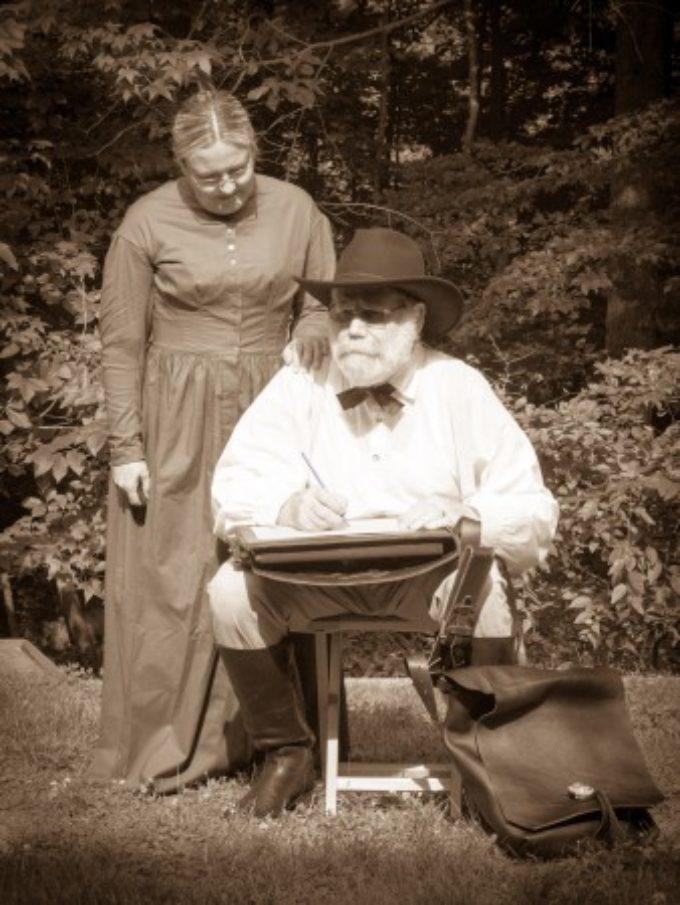 Gettysburg Ice Angle Wife and Battlefield Illustrator