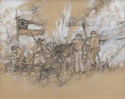 "150th Gettysburg Reenactment Illustration: ""Parrott Answer"""