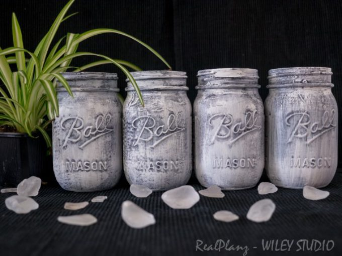 Mason Jars – Weathered Look