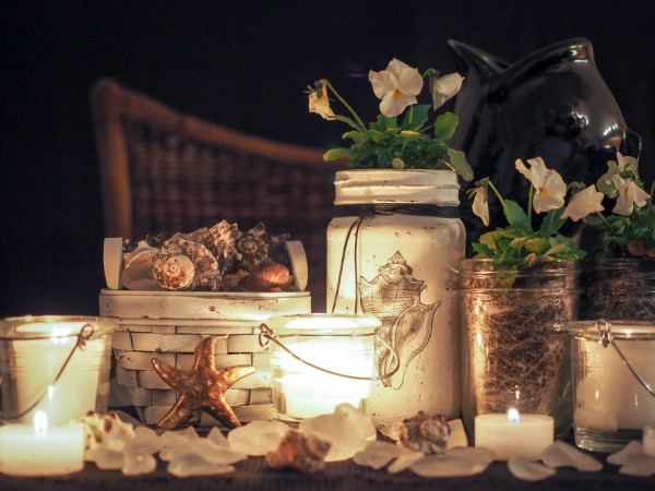 Coastal Centerpiece lll Candlelight