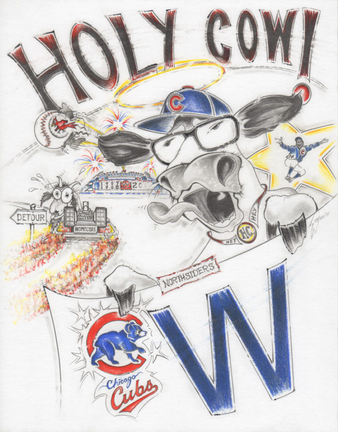 Holy Cow Cubs Fans Cartoon